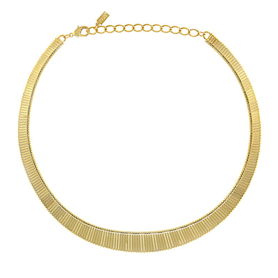 14K Gold Dipped Collar Necklace 18 In Adj