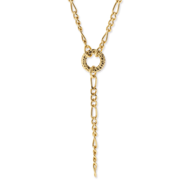 Gold Tone Charm Holder Necklace 20In