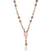Rose Gold/Cultura Prl/Rse Quartz Y Necklace 16 In Adj