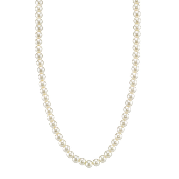 Costume Pearl Strand Necklace 18 In