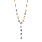 14K Gold-Dipped Genuine Swarovski Crystal Y-Necklace 16 - 19 Inch Adjustable