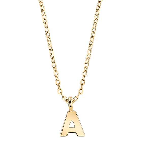 Gold-Tone Mini Initial Necklaces