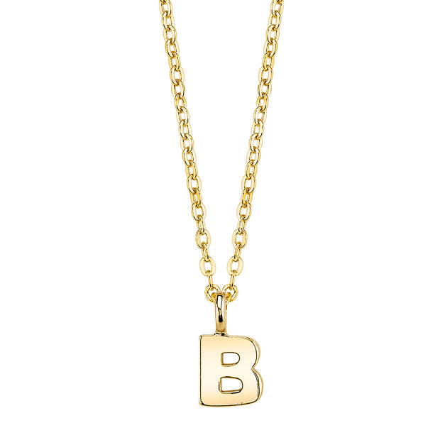 Gold Tone Mini Initial Necklaces B