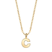 Gold Tone Mini Initial Necklaces C