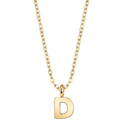 Gold-Tone Mini Initial Necklaces D