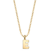 Gold Tone Mini Initial Necklaces E