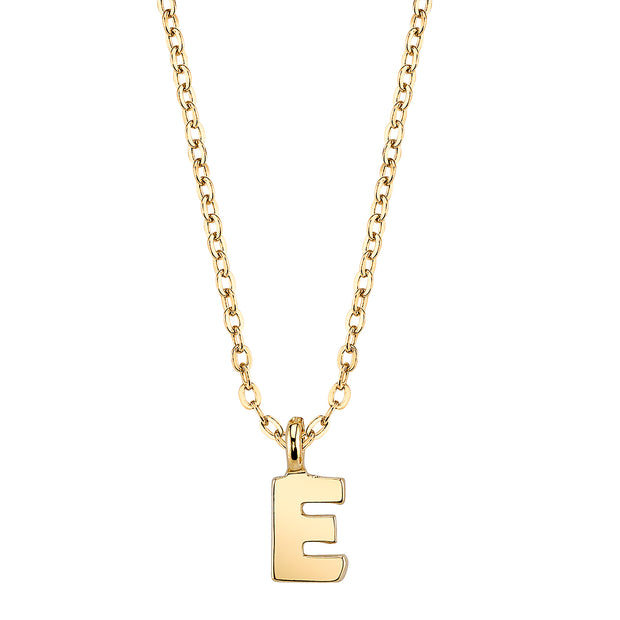 Gold-Tone Mini Initial Necklaces E