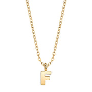 Gold Tone Mini Initial Necklaces F