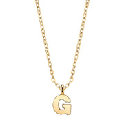Gold Tone Mini Initial Necklaces G