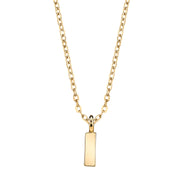 Gold Tone Initial Necklace 20 I
