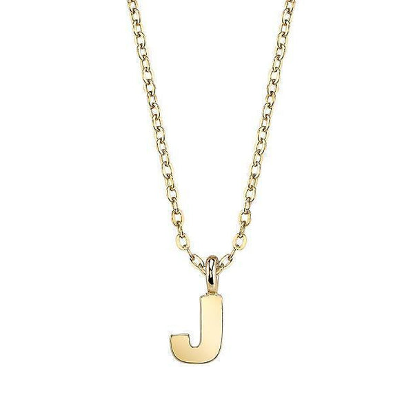 Gold tone letter j initial pendant necklace gold tone initial j necklace 20 aloadofball Images