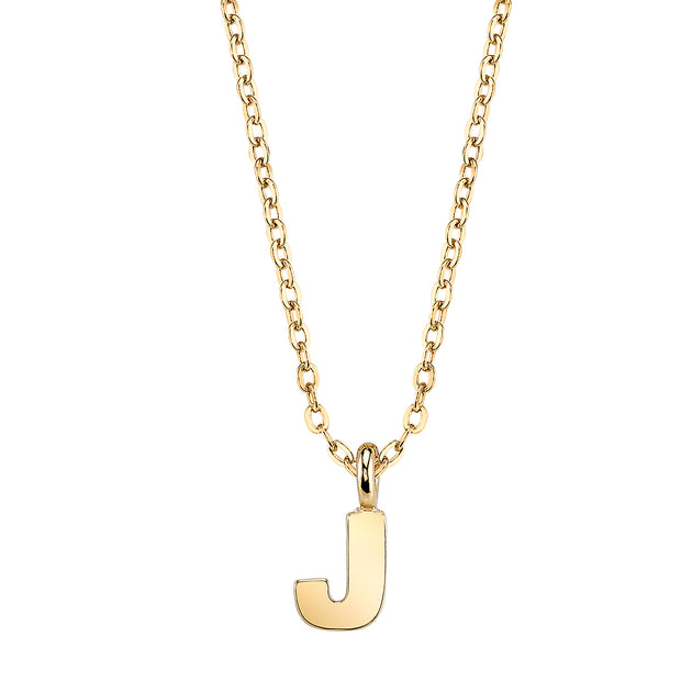 Gold Tone Initial Necklace 20 J