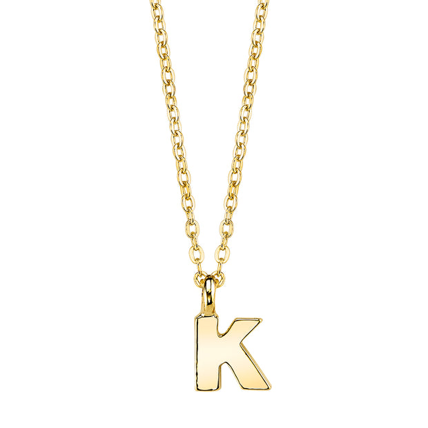 Gold Tone Initial Necklace 20 K