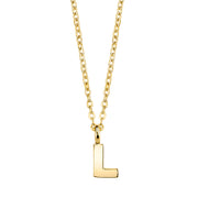 Gold Tone Initial Necklace 20 L