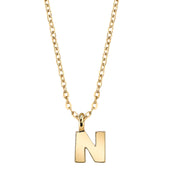 Gold Tone Mini Initial Necklaces N