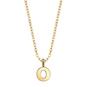 Gold-Tone Mini Initial Necklaces O