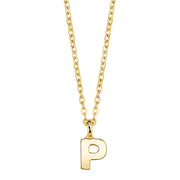 Gold Tone Mini Initial Necklaces P