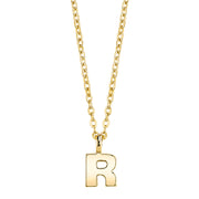 Gold Tone Mini Initial Necklaces R