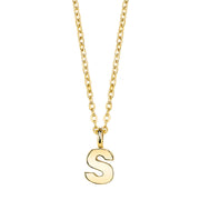 Gold Tone Mini Initial Necklaces S