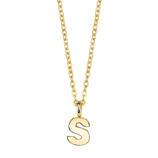 Gold-Tone Mini Initial Necklaces S