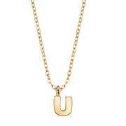 Gold Tone Mini Initial Necklaces U