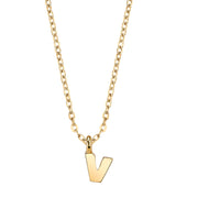 Gold Tone Mini Initial Necklaces V