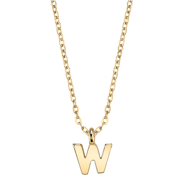 Gold Tone Mini Initial Necklaces W