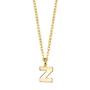 Gold Tone Mini Initial Necklaces Z