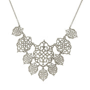 Filigree Bib Necklace 16   19 Inch Adjustable