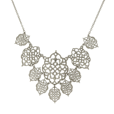 Filigree Bib Necklace 16 - 19 Inch Adjustable