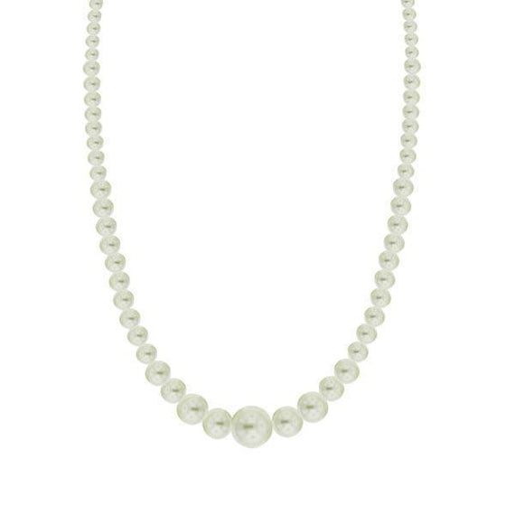 Graduated Simulated Pearl Necklace 16  Adj.
