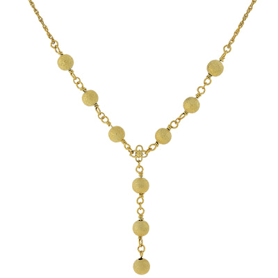 Gold-Tone Y-Necklace 16 In Adj
