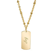 14K Gold-Dipped  Joy  Necklace 16 - 19 Inch Adjustable
