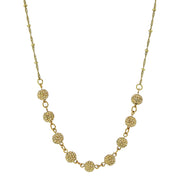Gold Tone Crystal Fireball Pave Necklace 16   19 Inch Adjustable Yellow