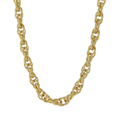 Gold Tone Chain Link Necklace 18