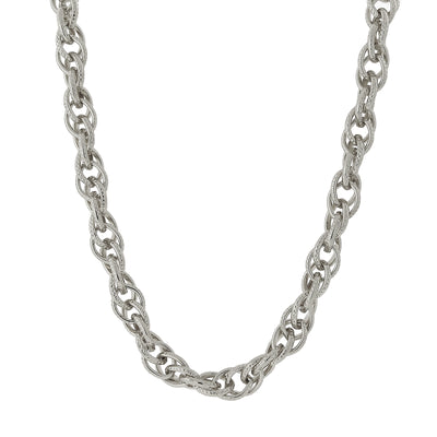 Silver-Tone Chain Link Necklace 18 In