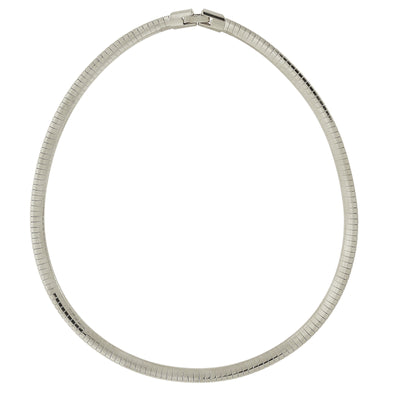 Silver-Tone Omega Necklace 16 Inch