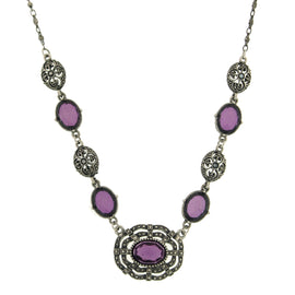 Morado Jewels Simulated Marcasite Necklace