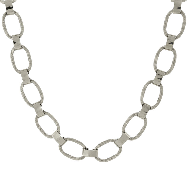 Classic Link Necklace 18 In Silver