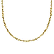 Gold Tone Chain Necklace 16   19 Inch Adjustable