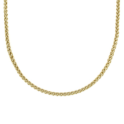 Gold-Tone Chain Necklace 16 - 19 Inch Adjustable