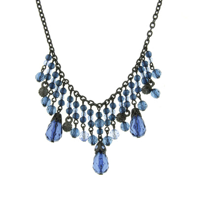 Jet Montana Bib Necklace 16   19 Inch Adjustable