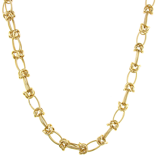 Gold-Tone Link Necklace 16 In Adj