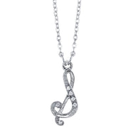 Silver Tone Crystal Initial Necklaces 16 Adj S