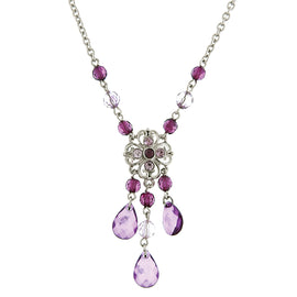 1928 Jewelry: 1928 Jewelry - Spring Violet Amethyst Purple Chandelier Pendant Necklace