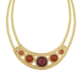 Fashion Jewelry - 2028 Gold-Tone Mixed Berry Bib Collar Necklace
