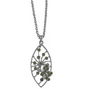 1928 Jewelry Pave Butterfly Necklace Pendant Necklace 16 - 19 Inch Adjustable