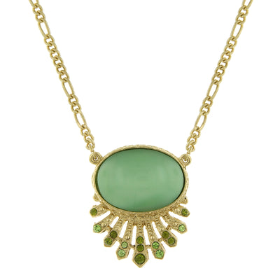 Gold Tone Oval Necklace 16   19 Inch Adjustable
