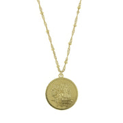 Gold Tone Flower Of The Month Necklace 16   19 Inch Adjustable January/Carnation