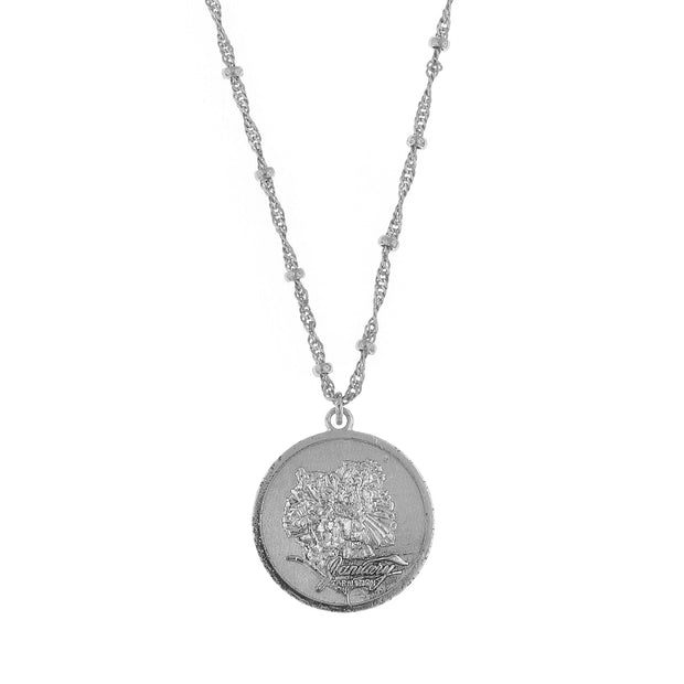 Flower Of The Month Necklace   January/Carnation 16   19 Inch Adjustable